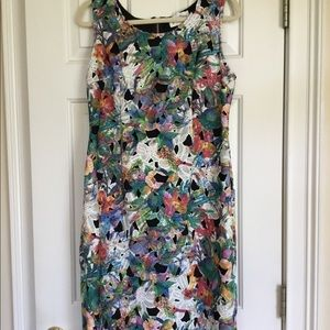 Joseph Ribkoff sleeveless lace overlay shift dress